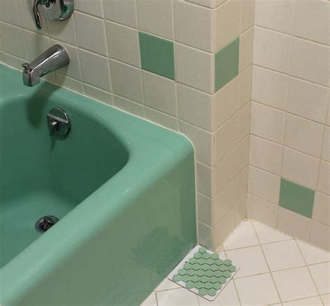 retro green bathroom 2 new porcelain hex tile floor options for your vintage