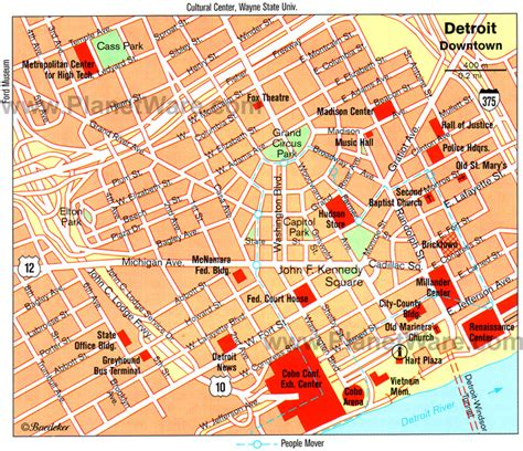 map of usa detroit detroit michigan map