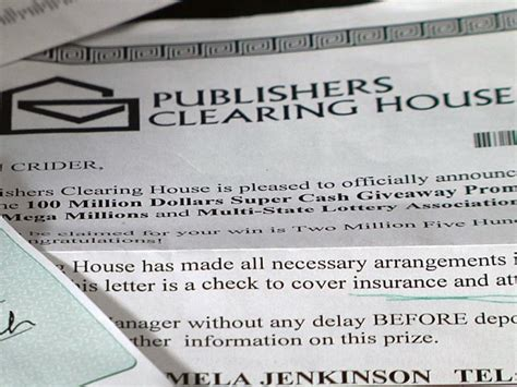 insurance clearing house publishers clearing house scam