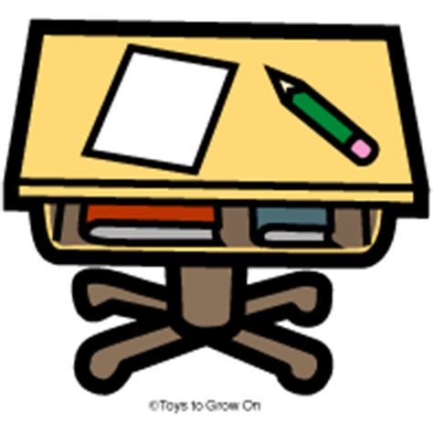 School Desk Clipart by Schook Clean Desk Clipart