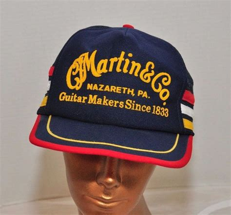 Topi Trucker Merch vintage cf martin guitars pa trucker mesh snapback hat cap blue cap favorite recipes