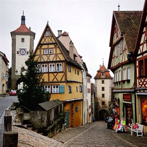 german village rothenburg rothenburg germany quaint little german village