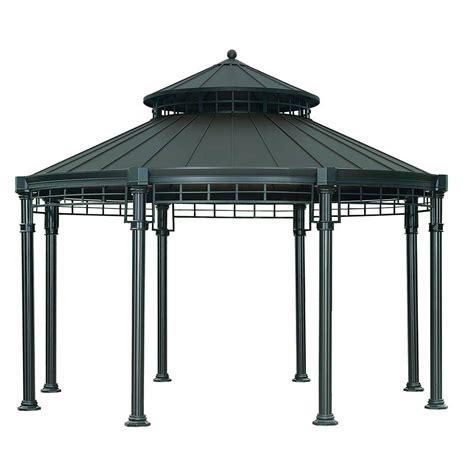 pavillon metall 4 x 5 sunjoy 14 3 ft x 11 4 ft steel hardtop
