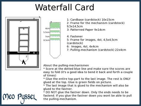 waterfall card template free basic grey waterfall card meopyssel