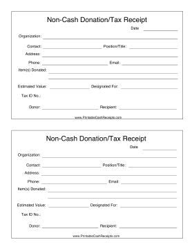 donation receipt template vista print if you make a non donation such as clothing