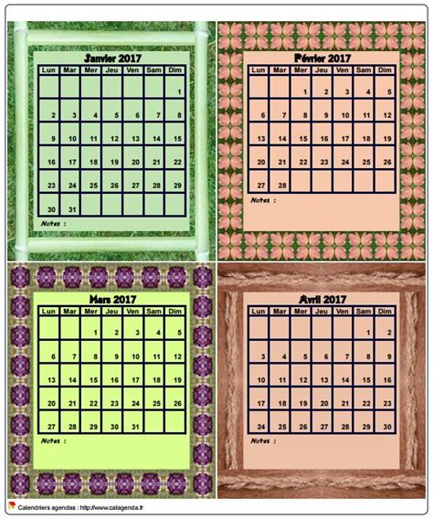 Planning Calendrier Calendrier Planning Agenda