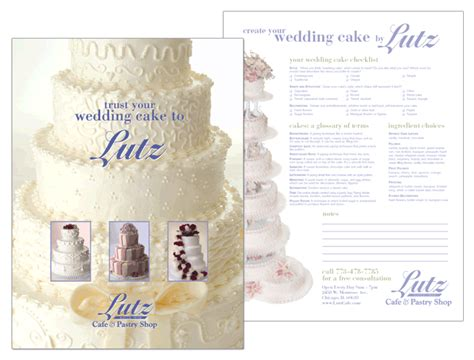 Wedding Brochure Layout by Wedding Cake Brochures Best Wedding 2017