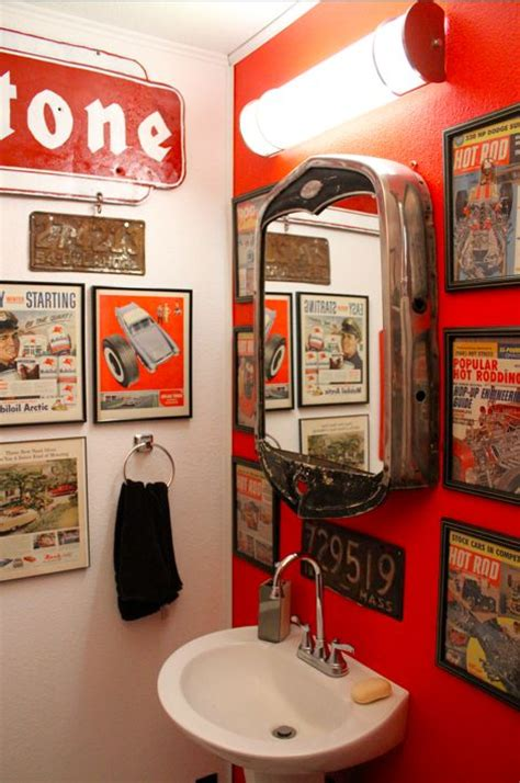 Hot rod bathroom that mirror is amazing house decorators collection