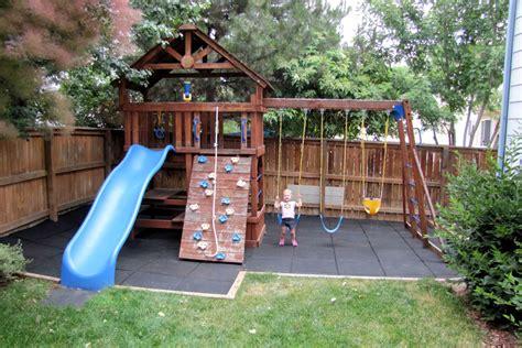 swing set rubber flooring image gallery outside playground flooring
