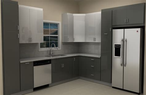 Kitchen Base Cabinet by High Gloss Abstrakt Doors For An Ikea Kitchen Remodel