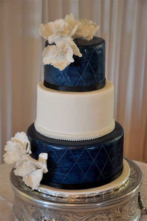 Wedding Cake Blue by Blue Green And White Wedding Cakes