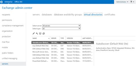 xp setup virtual directory exchange 2013 initial configuration settings how to