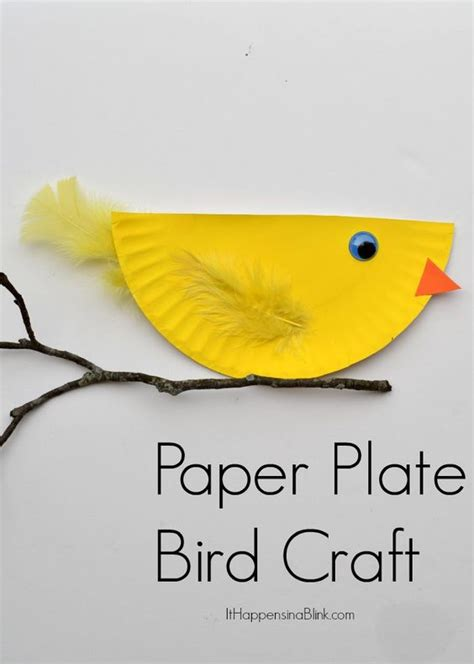 Paper Bird Craft - paper plate bird and easy kid s craft tutorial