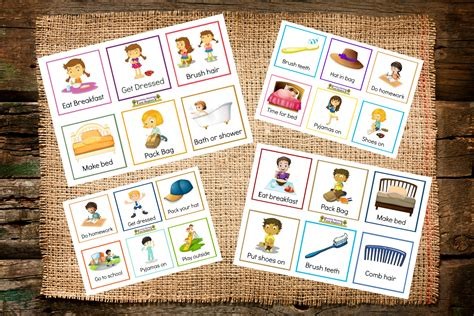 picture cards back to school routines free printable cards to make it
