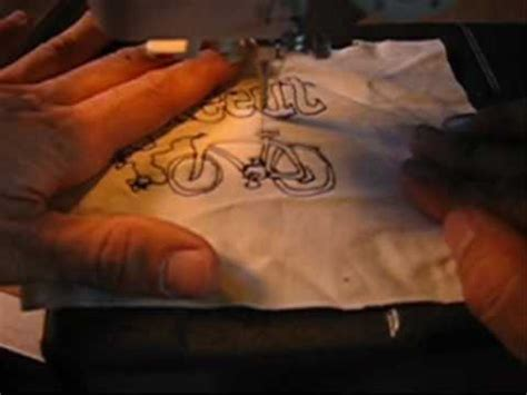 sewing machine free motion embroidery by p.nosa youtube