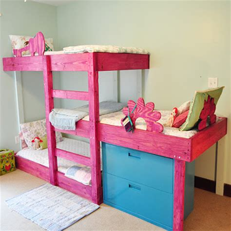 Three Level Bunk Bed Home Dzine Home Diy Diy 3 Level Bunk Beds
