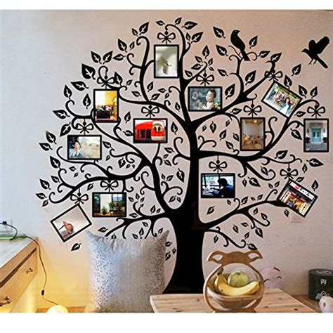 timber artbox large family tree photo frames wall decal family tree wall decals for funky decor funk this house
