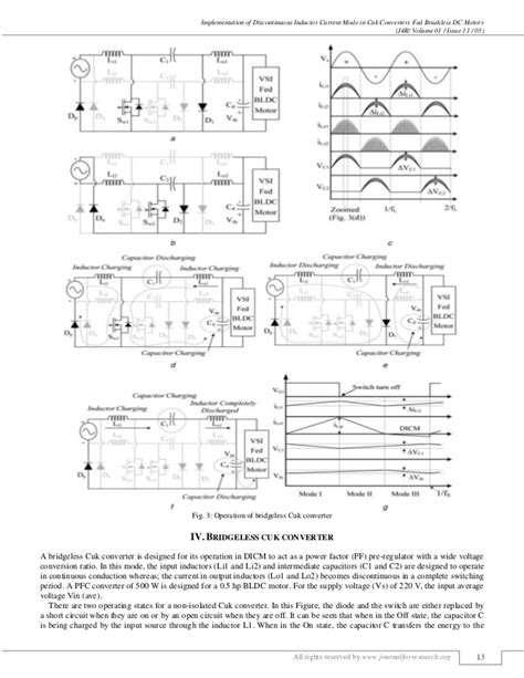 inductors operation implementation of discontinuous inductor current mode in cuk converte