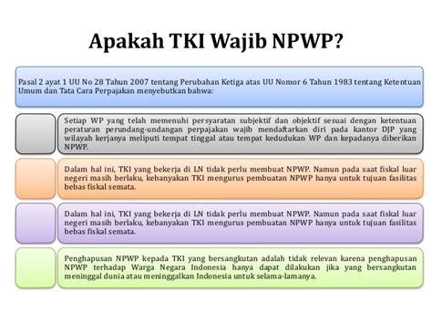 wajib membuat npwp subjek pajak