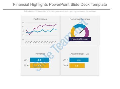 slide deck templates financial highlights powerpoint slide deck template