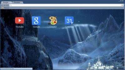 themes google chrome frozen frozen chrome themes themebeta