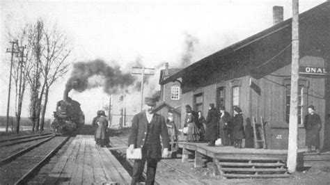 hometown history onalaska railroad depot circa