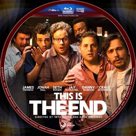this is the this is the end custom dvd labels this is the end disc 2013apr2 dvd covers