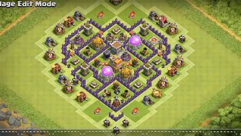layout design th7 town hall 7 base layout farming www pixshark com