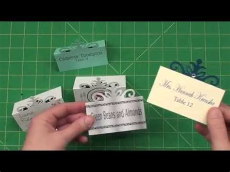 cricut large place card template create your own place cards