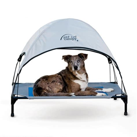 dog bed with canopy k h pet cot canopy dog bed shade overhang by k h pet