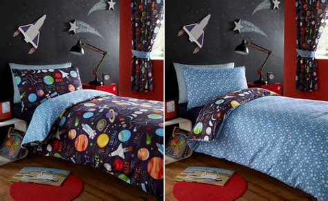 solar system comforter set planets space ship rocket solar system reversible duvet