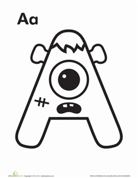 Monster Alphabet Coloring Pages | alphabet monster coloring pages education com