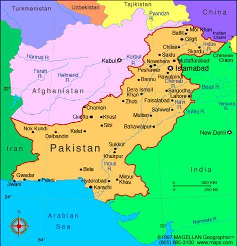 map of pakistan atlas pakistan