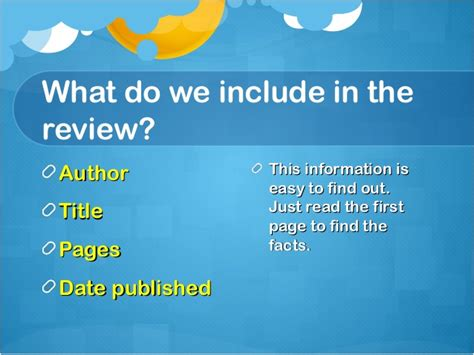 what to include in a book report what do you need to include in a book report