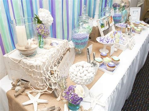 beach themed table ls beach themed dessert tablescape sweets treat table