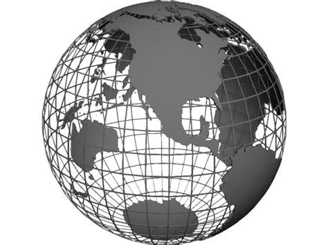 globe maps 3d globe map frame 3d model 3d cad browser