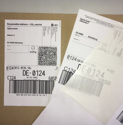 Dhl Versand Etiketten Drucken by Integrierte Paketaufkleber Passend F 252 R Dpd Dhl Hermes
