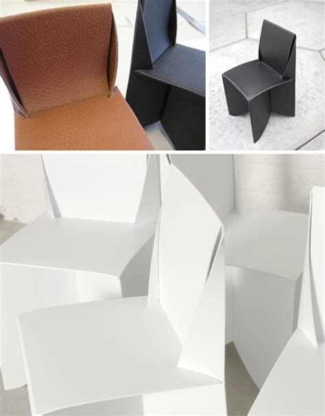 Origami Folding Furniture - origami style paper thin patio ready white folding chairs