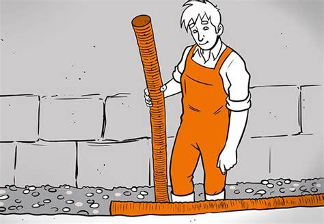drainage am haus verlegen entw 228 sserungsrinne verlegen obi ratgeber