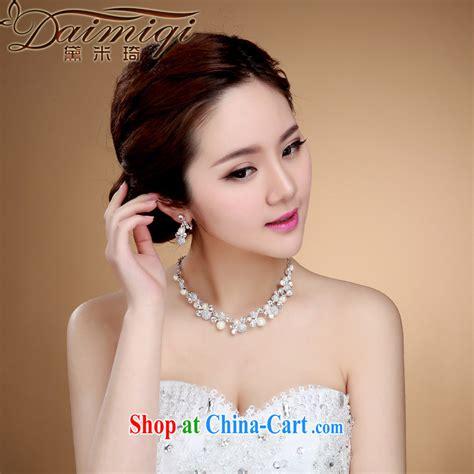 Korean Style Hair Accessories bridal jewelry korean style necklace earrings wedding hair