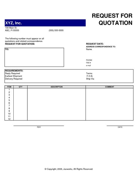 rfq templates best photos of request for quotation request for quote