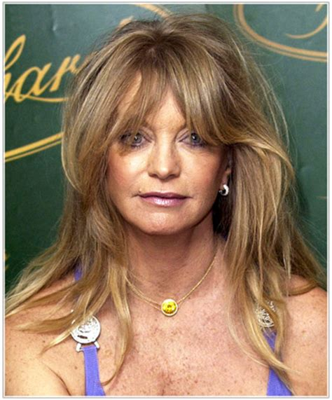goldie hawn's long hairstyles for older women