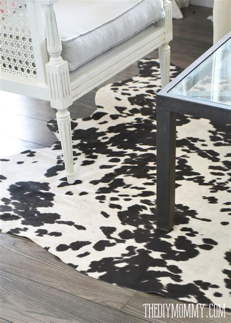 diy faux cowhide rug make a faux cowhide rug for 50 the diy