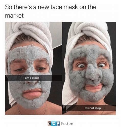 Funny Pic Meme - so there s a new face mask on the market i am a cloud it