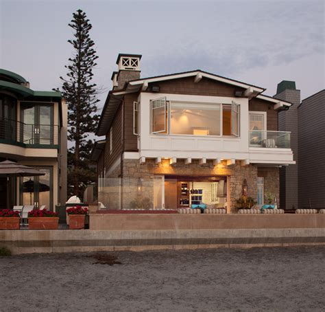 transitional house style transitional beach house beach style exterior san