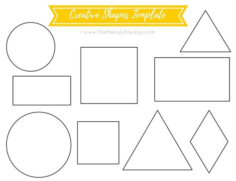 template for shapes travel felt board creative shapes template the many