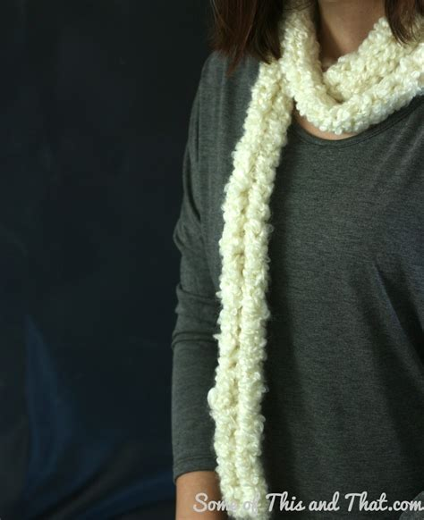 how to make a yarn scarf without knitting easy finger knit scarf diy infinity scarf some of this