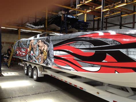 speed boat wraps boat vinyl wraps marine wraps florida