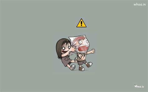 wallpaper cute evil pure baby evil funny cartoon hd wallpaper