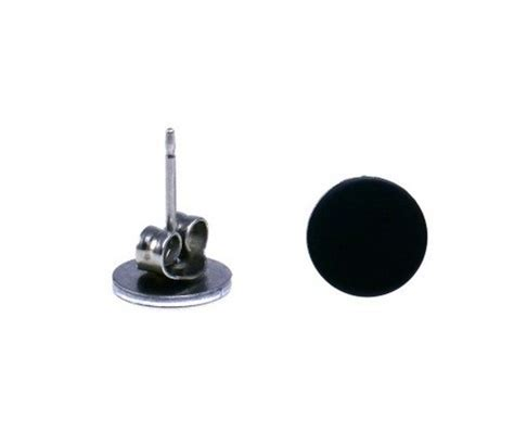 cool flat disc earrings for guys rockers by